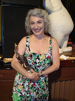Judy with the Frankie Award